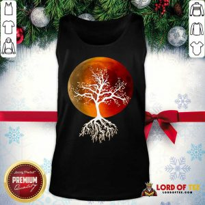 Blood Moon With Tree Moon Lunar Eclipse Moonlight Full Moon Pullover Tank Top - Design By Lordoftee.com