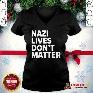Nazi Lives Don't Matter V-neck-Design By Lordoftee.com