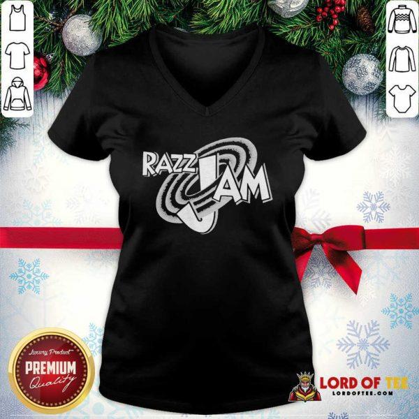 Razz Jam Tee V-neck-Design By Lordoftee.com