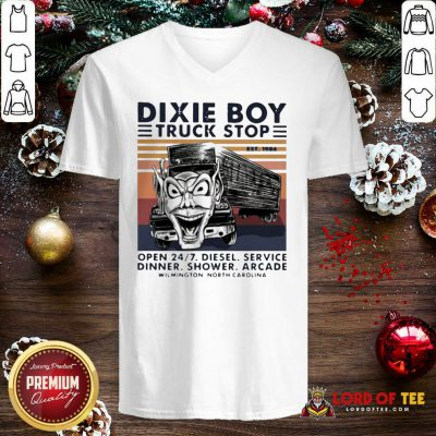 Vintage Dixie Boy Truck Stop Open 247 Diesel Service Dinner Shower Arcade Wilmington North Carolina Tank Top - Design By Lordoftee.com