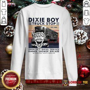 Vintage Dixie Boy Truck Stop Open 247 Diesel Service Dinner Shower Arcade Wilmington North Carolina SweatShirt - Design By Lordoftee.com
