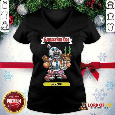 Captain Spaulding Garbage Pail Kids Sick Sid V-neck - Design By Lordoftee.com