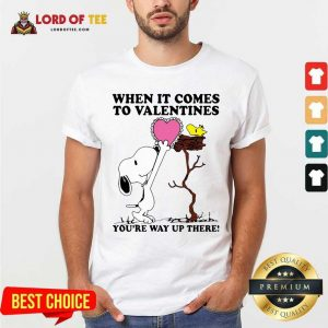 Snoopy And Woodstock When It Comes To Valentines Youre Way Up There Valentines Day Shirt - Desisn By Lordoftee.com