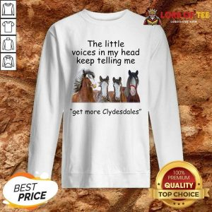 The Little Voices In My Head Keep Telling Me Get More Clydesdales Horses Sweatshirt - Desisn By Lordoftee.com