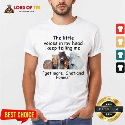 The Little Voices In My Head Keep Telling Me Get More Shetland Ponies Horses Shirt - Desisn By Lordoftee.com