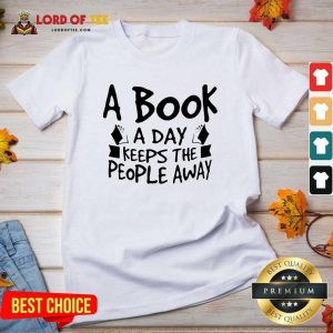 A Book A Day Keeps The People Away V-neck - Desisn By Lordoftee.com
