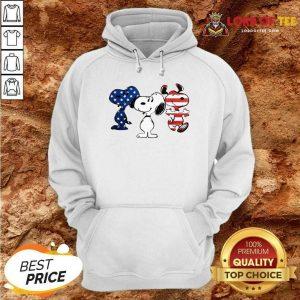 Snoopy American Flag Version Hoodie - Desisn By Lordoftee.com