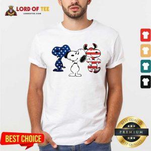 Snoopy American Flag Version Shirt - Desisn By Lordoftee.com