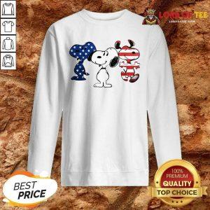 Snoopy American Flag Version Sweatshirt - Desisn By Lordoftee.com