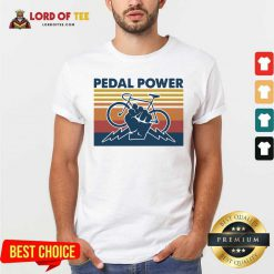 Bicycle Pedal Power Vintage Retro Shirt - Desisn By Lordoftee.com
