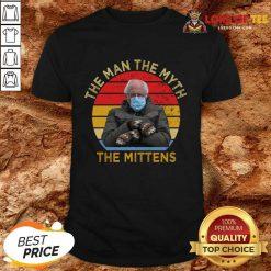 Bernie Sanders The Man The Myth The Mittens Vintage Shirt