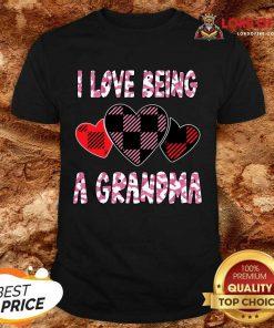 I Love Being Grandma Heart Valentines Day 2021 Shirt