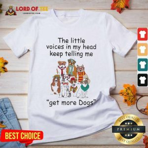 The Little Voice In My Head Keep Telling Me Get More Dogs V-neck - Desisn By Lordoftee.com