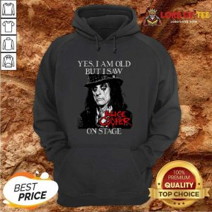 Yes I Am Old But I Saw Alice Cooper On Stage Signature Hoodie - Desisn By Lordoftee.com
