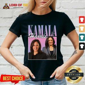 Kamala Harris Rap Hip Hop 90s Retro Vintage V-neck