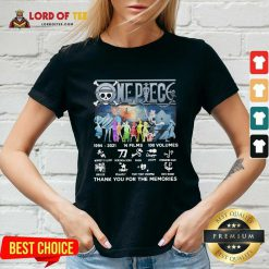 One Piece 14 Films 100 Volumes Thank You For The Memories Signatures V-neck