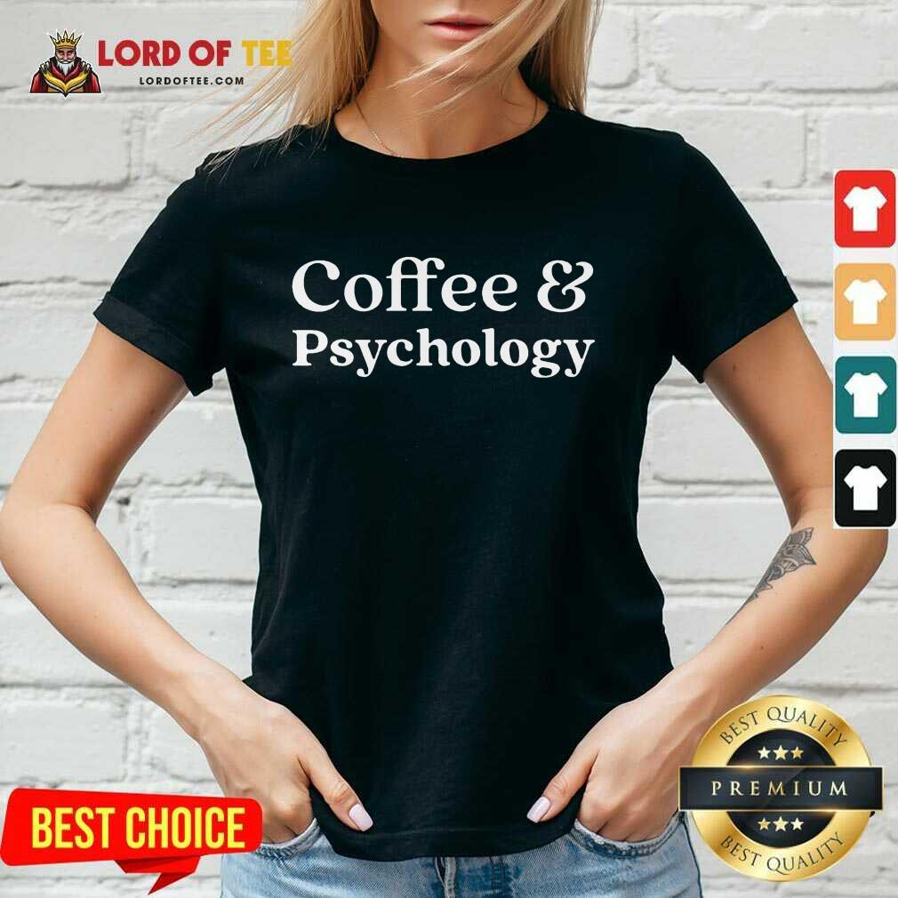 Nice Coffee and Psychology V-Neck