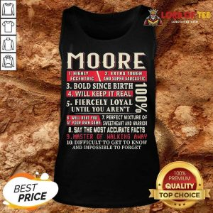 Nice Moore Shirt Moore Surname Tank Top