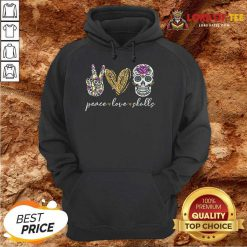 Official Peace Love And Skulls Diamond Hoodie