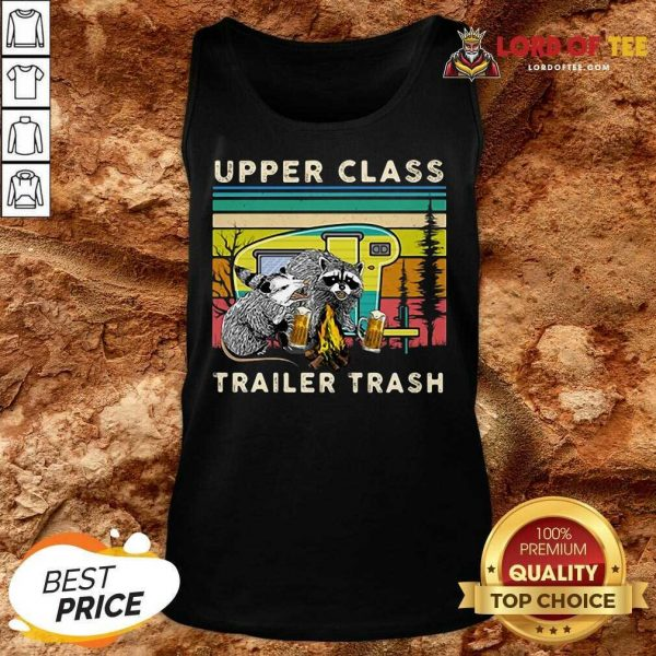 Official Raccoons And Opossums Upper Class Trailer Trash Tank Top