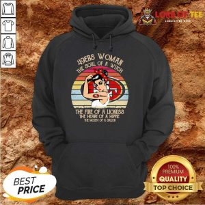 Official San Francisco 49ers Woman The Fire Of A Lioness Vintage Hoodie