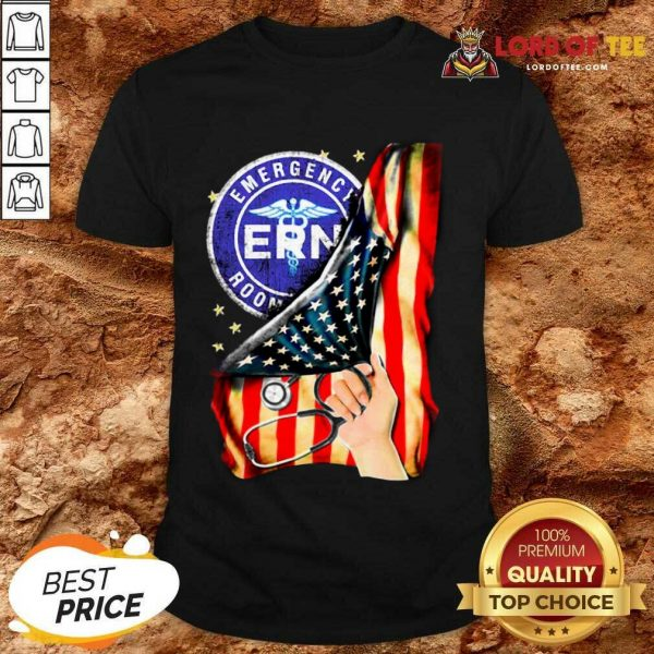 Top Emergency Room And American Flag Shirt