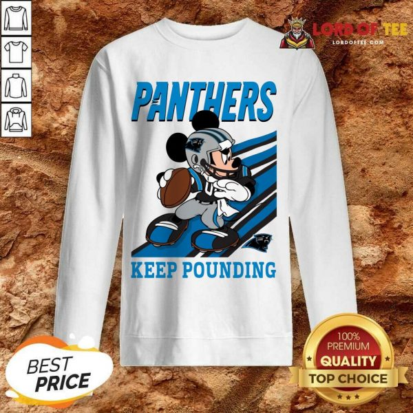 Top Mickey Mouse Carolina Panthers Keep Pounding Sweatshirt