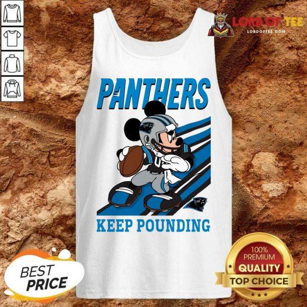Top Mickey Mouse Carolina Panthers Keep Pounding Tank Top