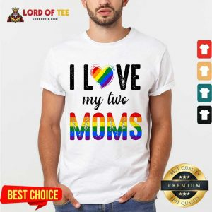 Top My 2 Moms Lesbian Pridets For Kids Shirt