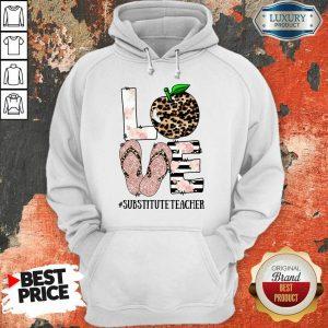 Apple Leopard Love Substitute Teacher Hoodie