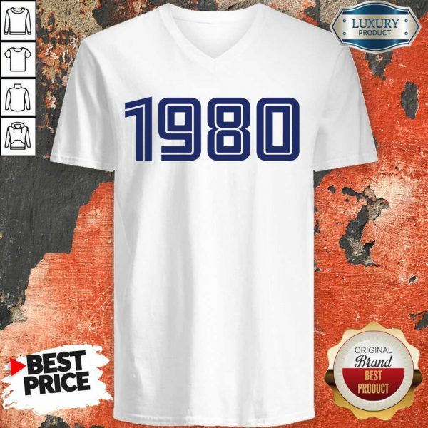Excellent Personalised Year 1980 V-neck
