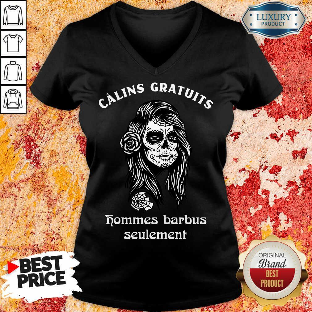 Funny Cinco De Mayo Câlins Gratuits Hommes Barbus Seulement V-neck