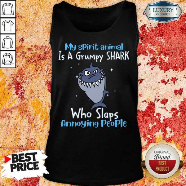 My Spirit Animal Is A Grumpy Shark Tank Top