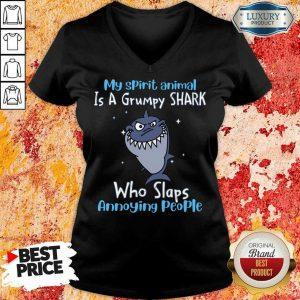 My Spirit Animal Is A Grumpy Shark V-neck