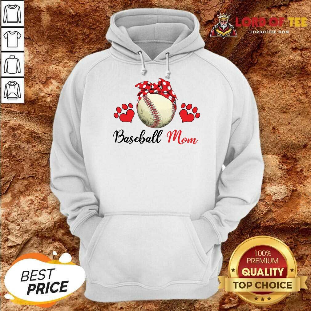 Top Polka Dot Red Baseball Love Mother For Baseball Lover Hoodie