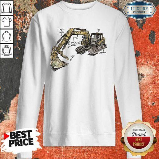 Bulldozer Anatomy Sweatshirt