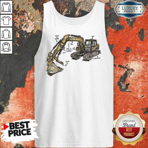Bulldozer Anatomy Tank Top
