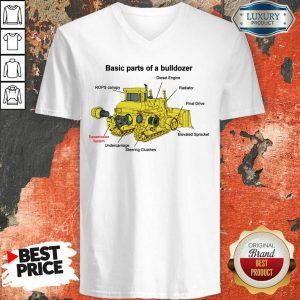 Bulldozer Anatomy V-neck