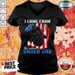 Cocker Spaniel American The Nation Under God V-neck