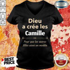 Dieu A Cree Les Camille V-neck