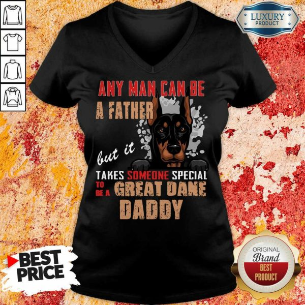 Great Dane Any Man Can Be A Father V-neck