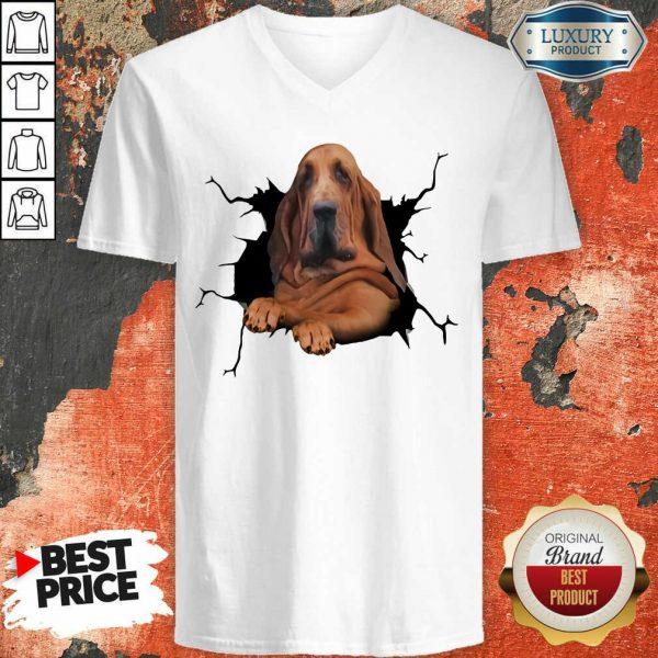 I Love Bloodhound V-neck