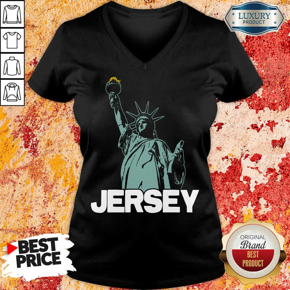 New Jersey Statue Of Liberty V-neck