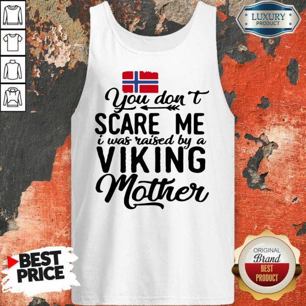 Norwegian Flag Scare Me Viking Mother Tank Top